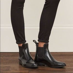 Sam Edelman Black Patent Tinsley Ankle Rain Boot